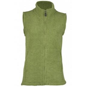 Gilet polaire sans manche femme en laine mérinos vert moss