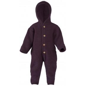 Combinaison bébé en laine polaire lilas