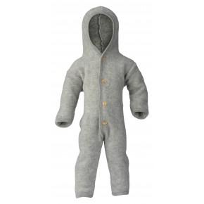 Combinaison bébé en laine Engel gris clair chiné