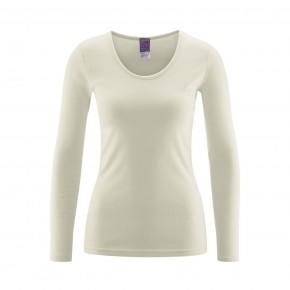 T-shirt 100 % coton Bio à manches longues écru naturel