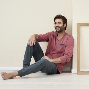 Pyjama homme 100% coton Bio LivingCrafts