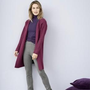 Veste longue laine et coton Bio