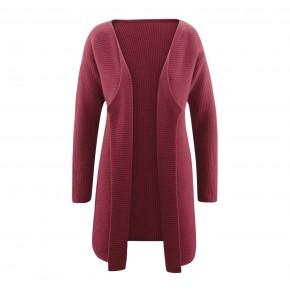 Cardigan long laine et coton Bio