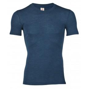 T-shirt laine mérinos homme bleu saphir