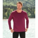 T-shirt homme à manches longues, laine mérinos et soie, Engel Sports