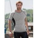 T-shirt laine Bio soie Homme gris