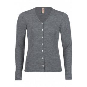 Cardigan femme 100 % laine mérinos gris schiefer