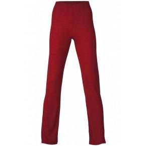 Pantalon de pyjama laine et soie rouge rubis
