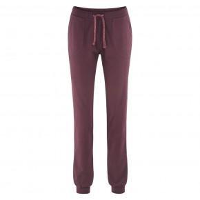 Pantalon femme en coton Bio bordeaux