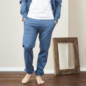 Pantalon de jogging homme en coton Bio bleu chiné