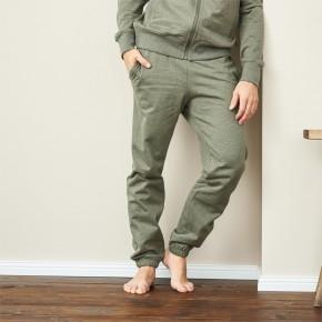 Pantalon de jogging homme en coton Bio vert chiné
