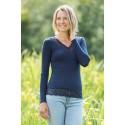T-shirt thermique laine mérinos et soie