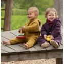 Grenouillère bébé à capuche en laine mérinos polaire Engel