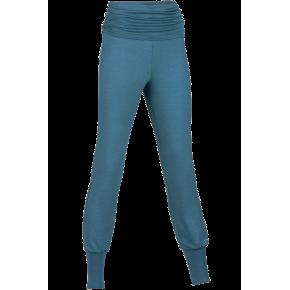 Panatlon de yoga femme laine et soie bleu