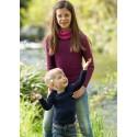 T-shirt enfant en laine mérinos et soie