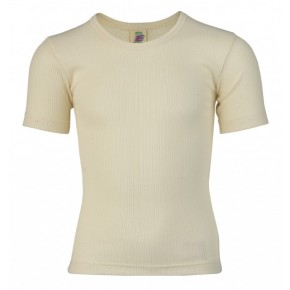 T-shirt enfant 100 % coton Bio écru naturel