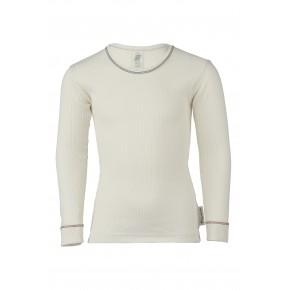 T-shirt à manches longues enfant 100% coton Bio écru