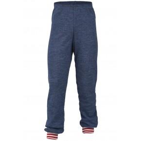 Pantalon enfant 100% laine vierge bleu