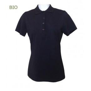 Polo femme en coton Bio noir