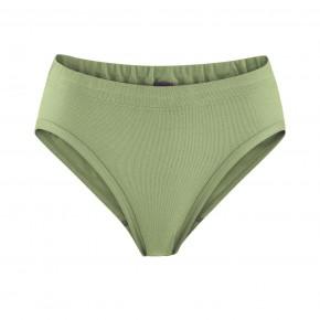 Slip à taille haute 100 % coton Bio vert