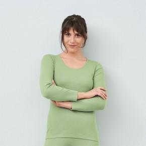 T-shirt à manches longues 100 % coton Bio vert