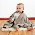 Couverture polaire bébé en coton biologique