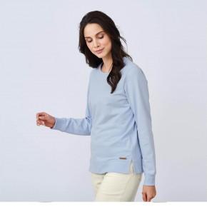 Sweatshirt femme 100 % coton Biologique bleu