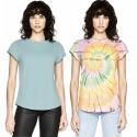 Tee-shirt femme en coton bio, manches retroussées blanc EarthPositive