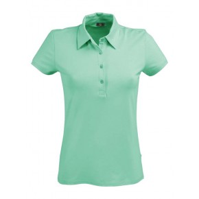 Polo femme en coton Bio vert