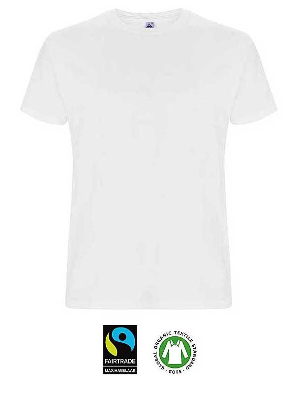 T-shirt blanc en coton Biologique