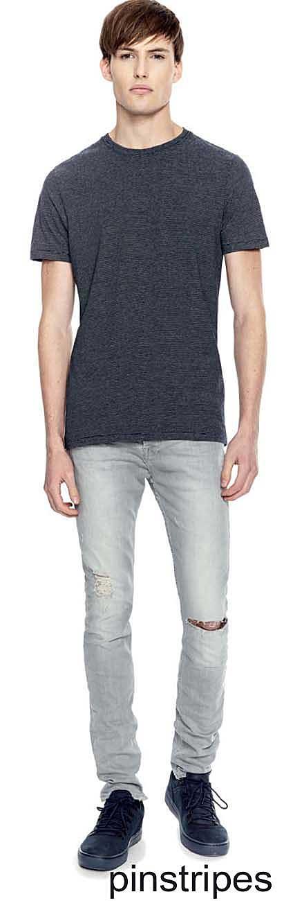 tee-shirt Bio à rayures