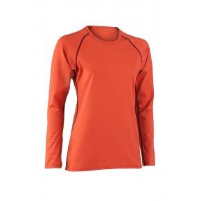 T-shirt manches longues Bio femme laine soie orange ENGEL