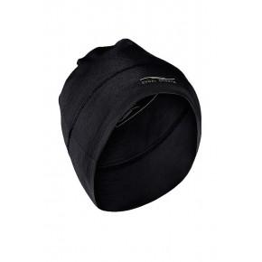 Bonnet Bio laine merinos et soie noir