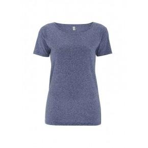 T-shirt EarthPositive Femme en coton Bio, bleu
