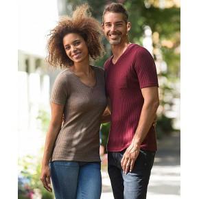 T-shirt manches courtes laine et soie homme Engel