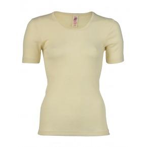 T-shirt en laine mérinos écru Engel