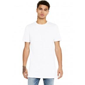 T-shirt homme blanc long en coton biologique