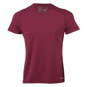 T-shirt Engel Sports homme laine mérinos Bio et soie rouge bordeaux