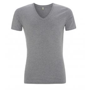 T-shirt Bio équitable gris chiné à col V
