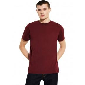 T-shirt épais bordeaux en coton bio EarthPositive