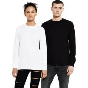 T-shirt épais à manches longues en coton bio
