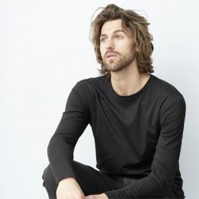 T-shirt manches longues en coton Bio, homme