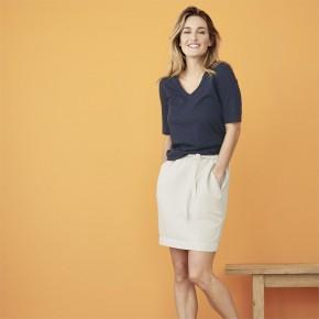 T-shirt femme manches aux coudes en coton Bio LivingCraft