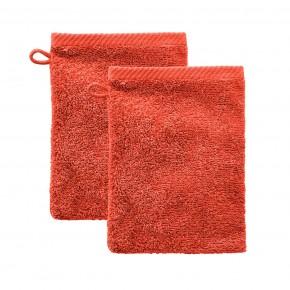 Gant de toilette en coton Bio, orange sunrize  Living Crafts