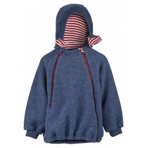 Polaire enfant à capuche en laine