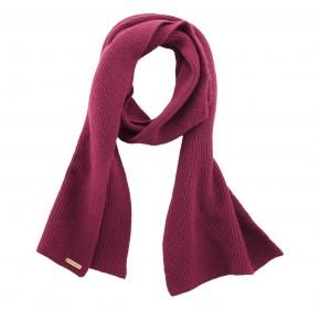 Écharpe laine et coton Bio rose framboise