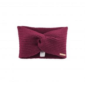 Bandeau cache-oreilles laine et coton Bio rose framboise