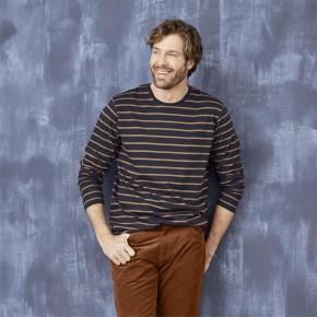 T-shirt rayé homme  en coton Bio