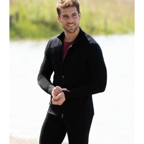 Veste de sport homme en laine mérinos et soie