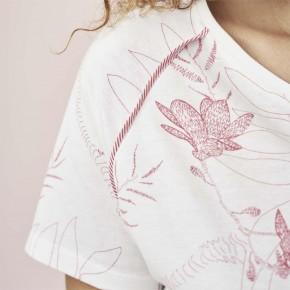 T-shirt de pyjama en coton Bio magnolia